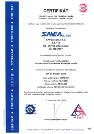 ČSN EN ISO 3834 – 2:2006