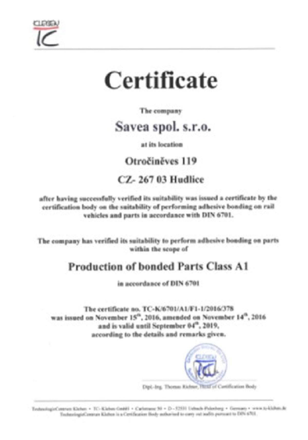 DIN 6701 Class A1