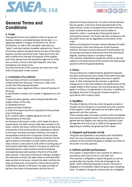 General Terms and Conditions